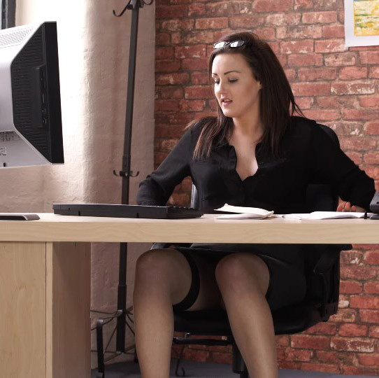 Office upskirt pictures video